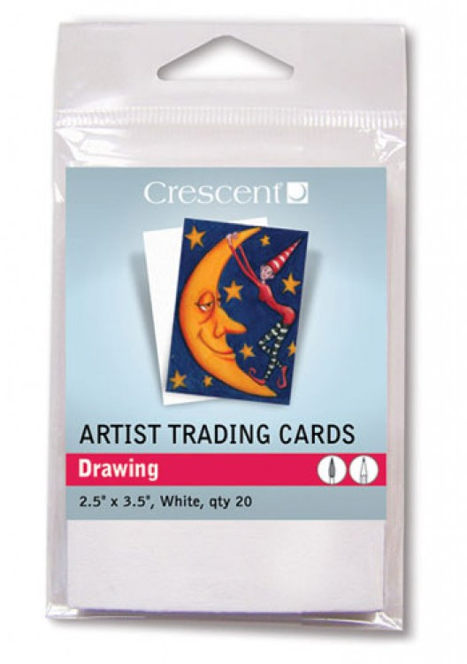 Crescent : Artist Trading Cards : Drawing White : 2.5x3.5in : Pack 20