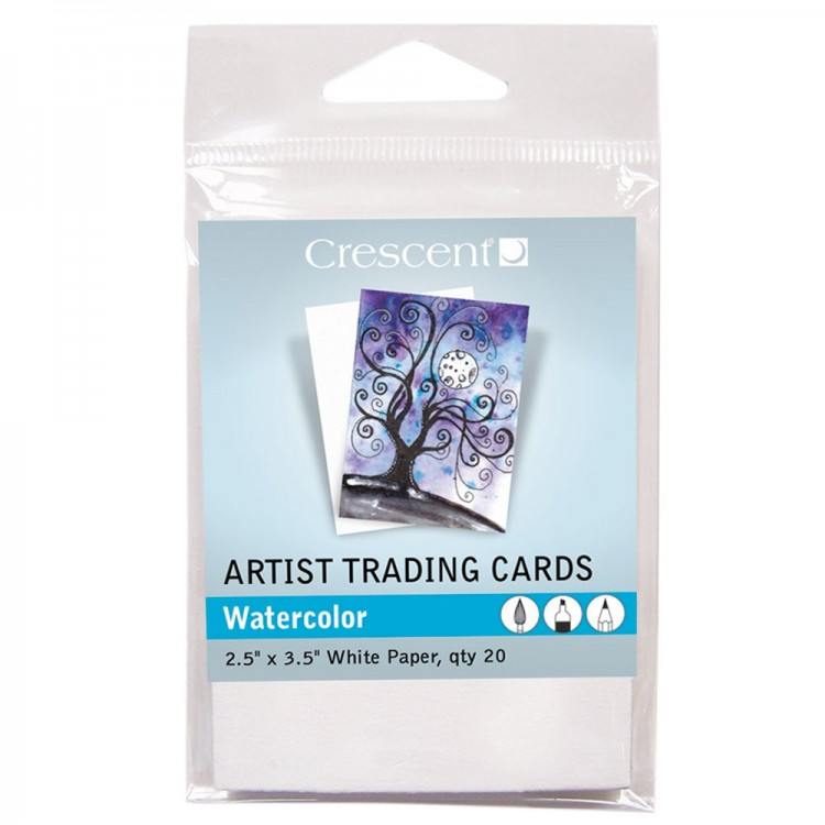 Crescent : Artist Trading Cards : Watercolour White : 2.5x3.5in : Pack 20