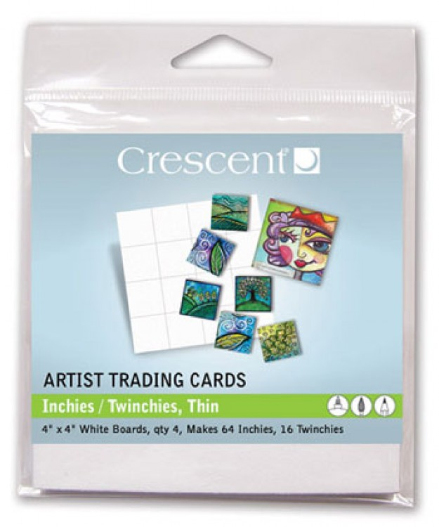 Crescent Artist Trading Cards : (TW) Inchies Thin White : 4 x4 Inch : Pack 2