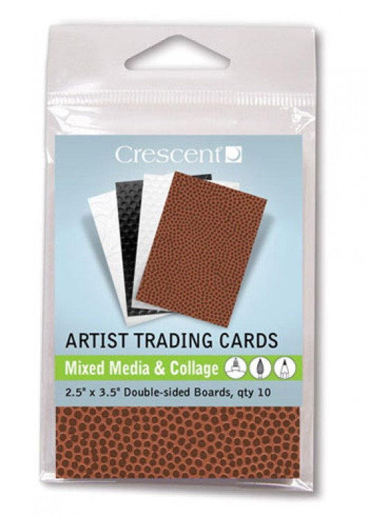 Crescent : Artist Trading Cards : Texture Assorted Colours/Double Sided : 2.5x3.5in : Pack 10