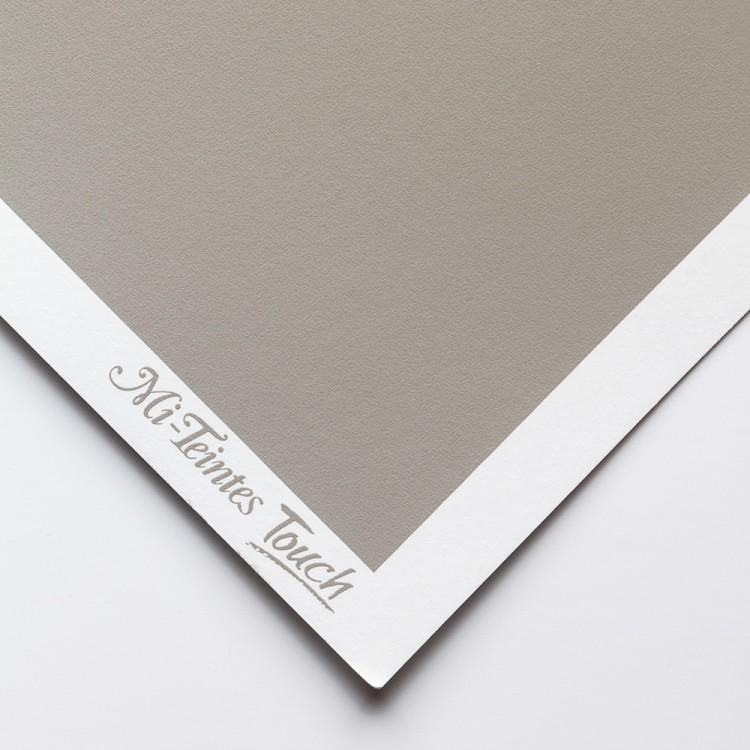 Canson : Mi-Teintes Touch : Pastel Paper : 350gsm : 50x65cm : Flannel Grey