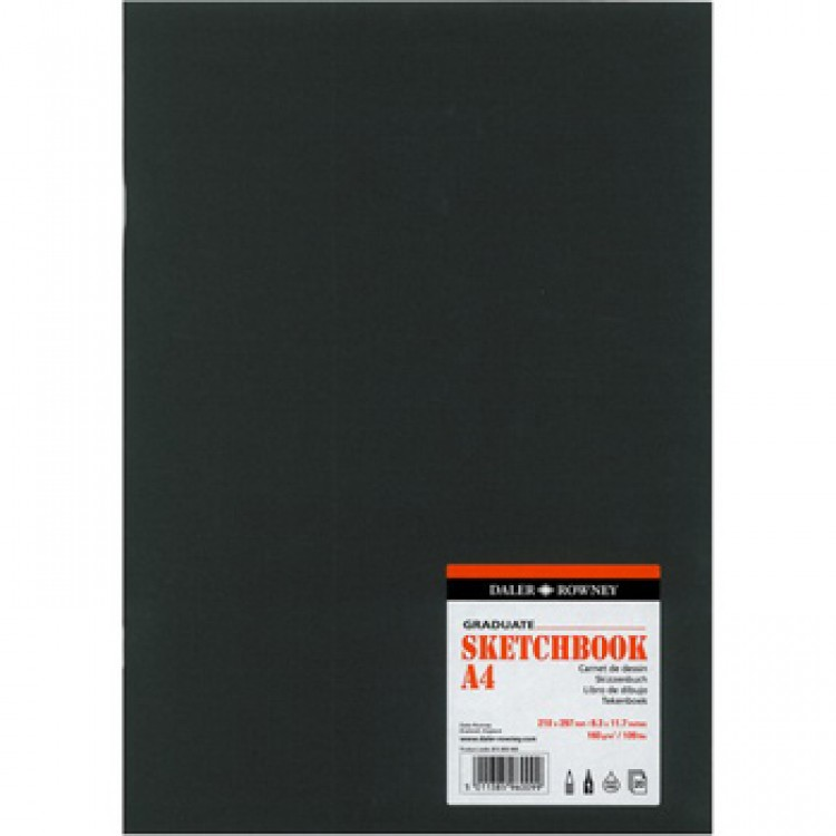 Daler Rowney : Graduate Stapled Softcover Sketchbook : 140gsm : 20 Sheets : A4