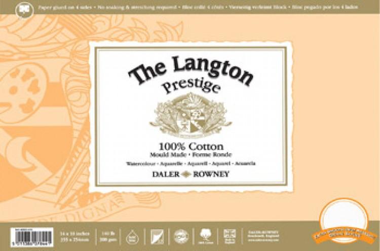 Daler Rowney : Langton : Prestige : Watercolour Paper : Block : 9x12in : HP