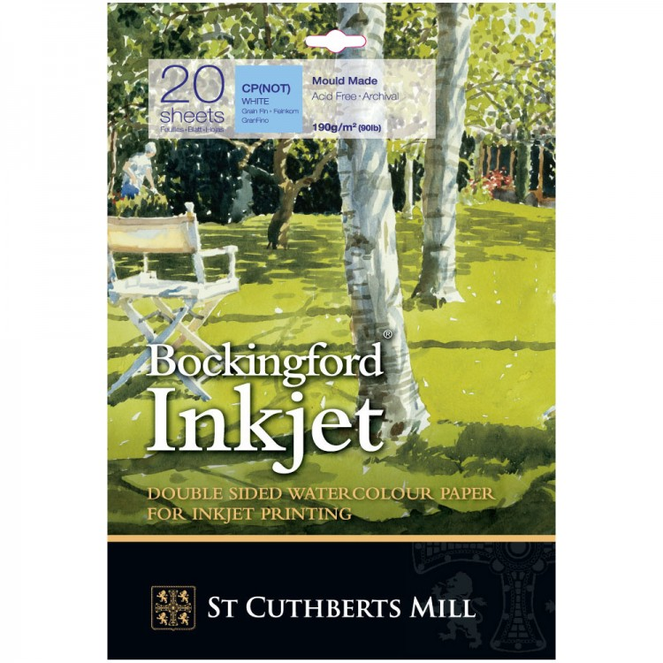 Bockingford : Inkjet Watercolour Digital Printer Paper : A3+ : 20 Sheets