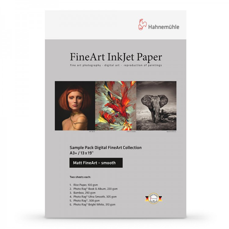 Hahnemuhle : Digital Inkjet Paper : Selection Pack : 14 Sheets : A4 : Smooth