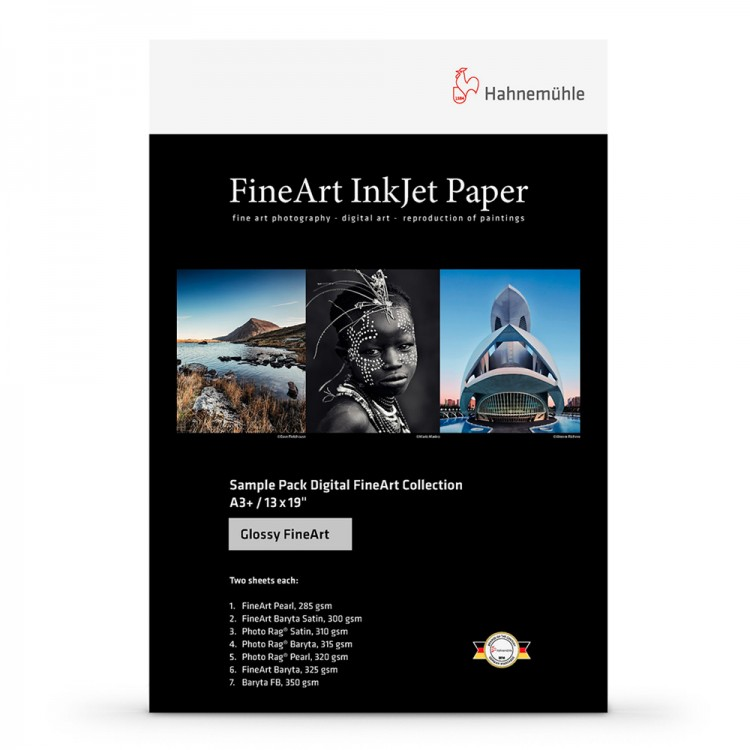 Hahnemuhle : Digital Inkjet Paper : Selection Pack : 14 Sheets : A4 : Glossy