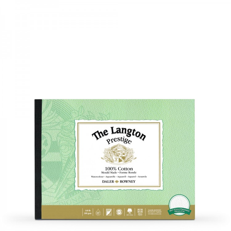 Daler Rowney : Langton : Prestige : Watercolour Paper : Glued : 9x12in : Not