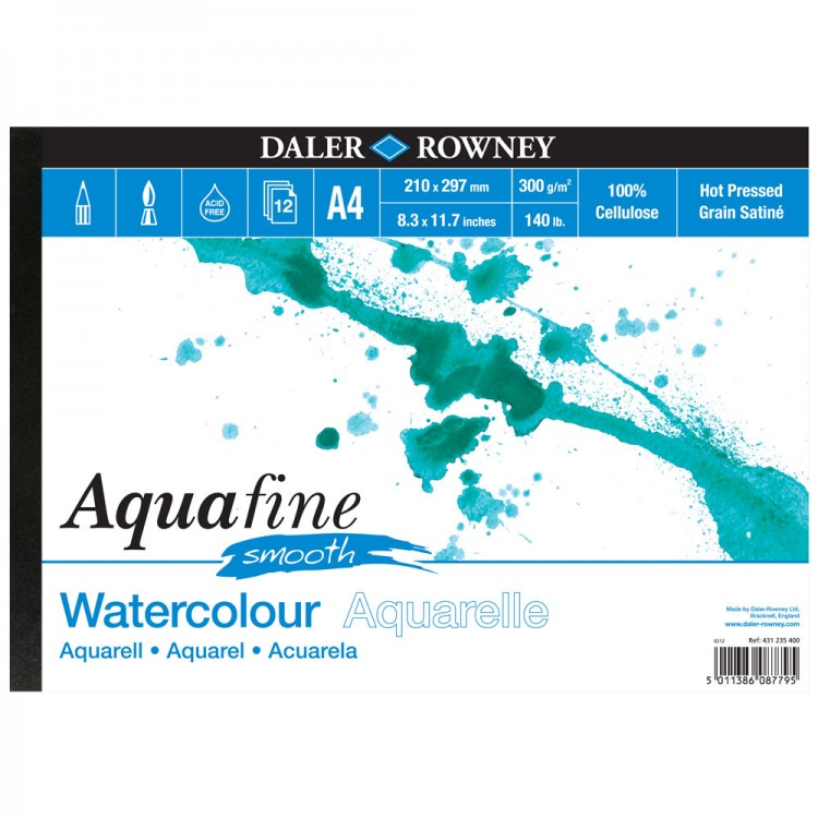 Daler Rowney : Aquafine Watercolour Pad : Landscape : 300G : A4 : Smooth