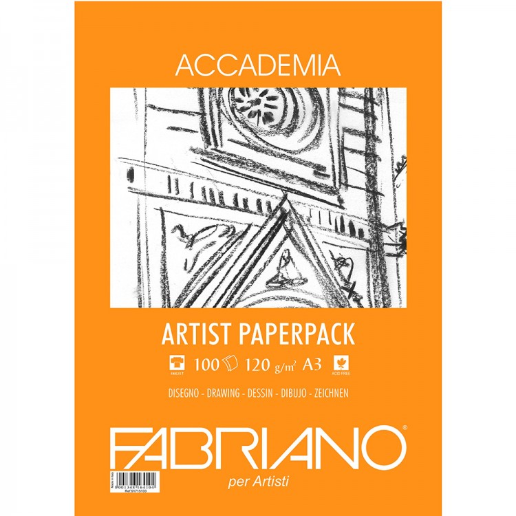 Fabriano : Accademia Drawing Paper : 120gsm : A3 : 100 Sheets