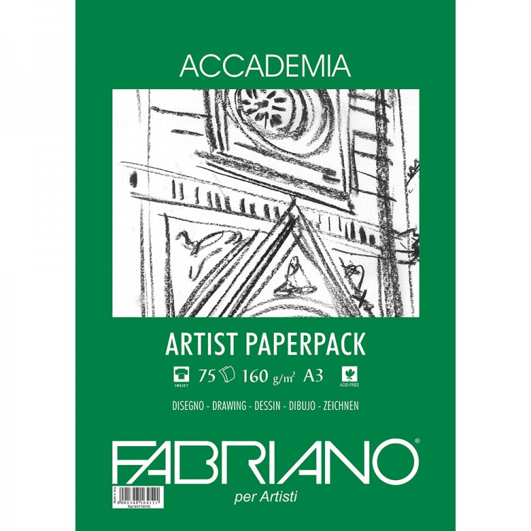 Fabriano : Accademia Drawing Paper : 160gsm : A3 : 75 Sheets