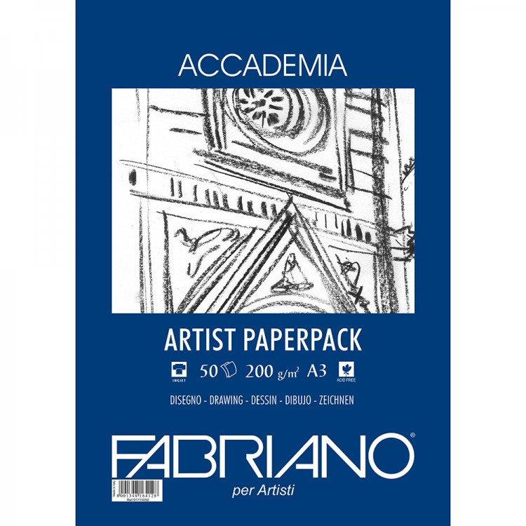 Fabriano : Accademia Drawing Paper A3 200gsm 50s