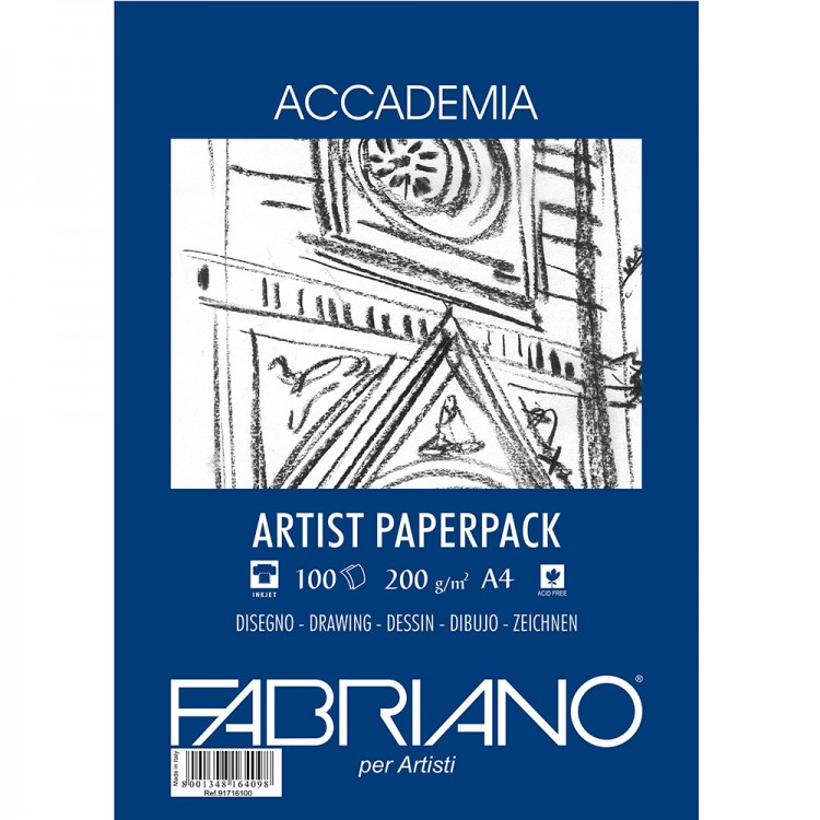 Fabriano : Accademia Drawing Paper : 200gsm : A4 : 100 Sheets