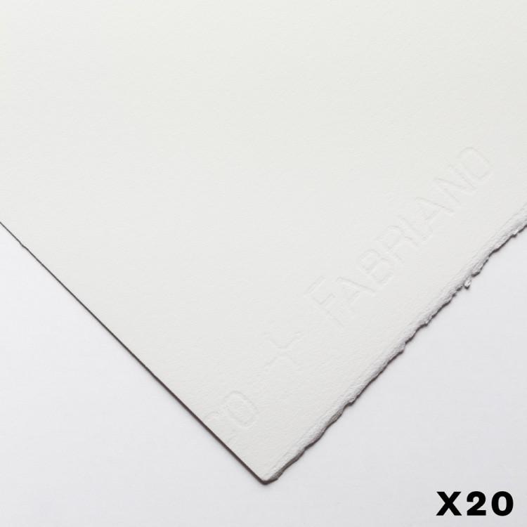 Fabriano : Artistico : 300gsm : 22x30in : 20 Sheets : Extra White : HP