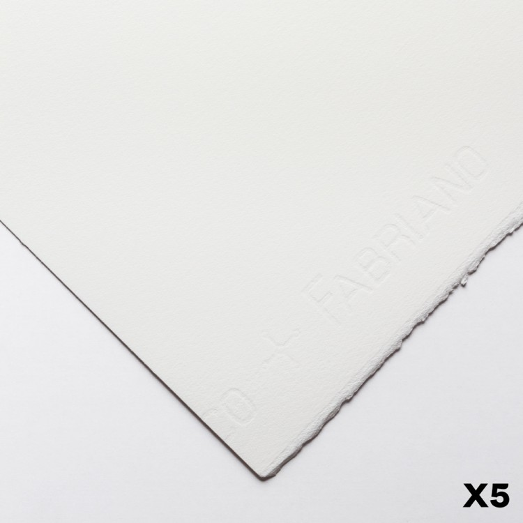 Fabriano : Artistico : 640gsm : 22x30in : 5 Sheets : Extra White : HP
