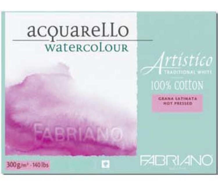 Fabriano : Artistico : Block : 12x18in : 20 Sheets : Traditional : HP