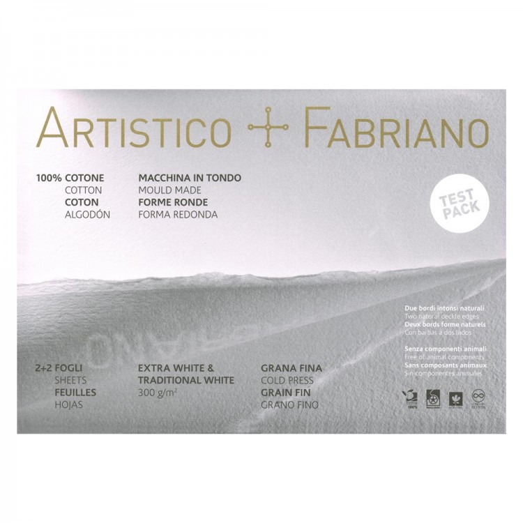 Fabriano : Artistico Watercolor Paper : Sample Pack