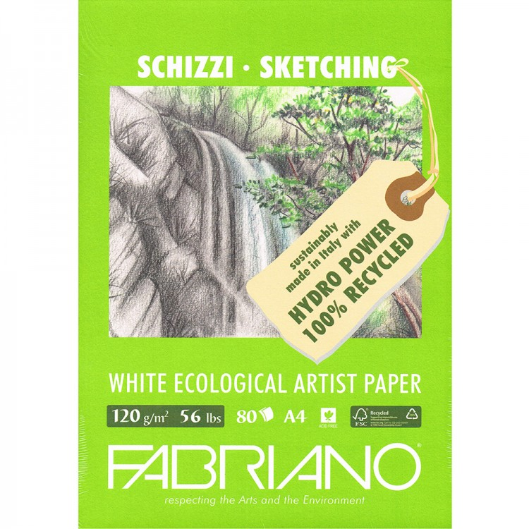 Fabriano : Eco Pad : 120gsm : 80 Sheets : A4