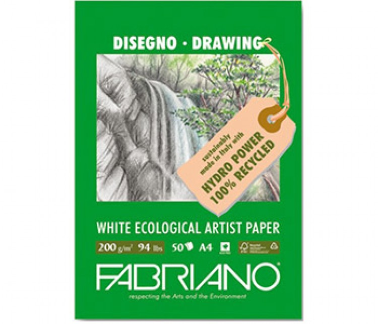 Fabriano : Eco Pad : 200gsm : 50 Sheets : A4