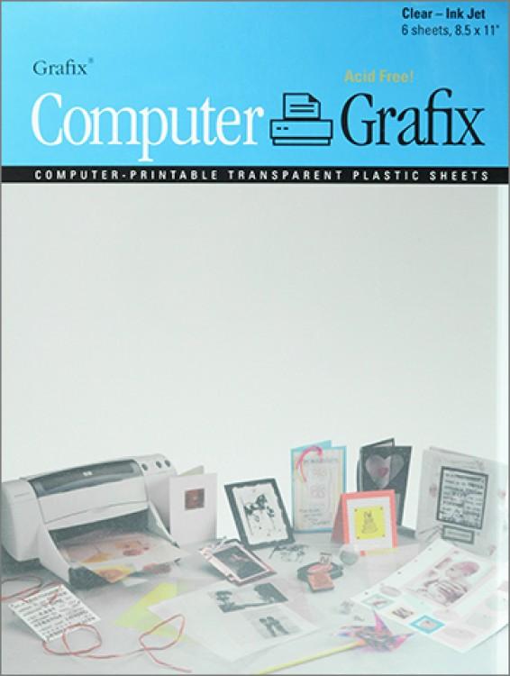 Grafix : Clear Film for Inkjet A4 : 6 Pack