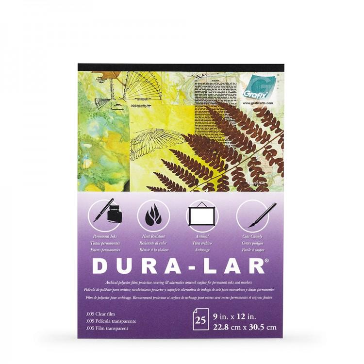 Grafix : Clear .005 inch Dura-Lar 9 x 12 inch Pad : 25 Sheets