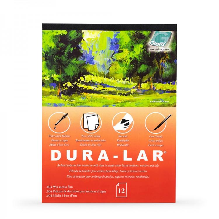 Grafix : Wet Media .004in Dura-Lar : 1114in Pad : 12 Sheets