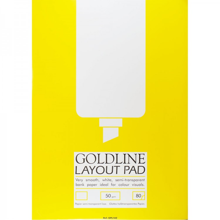Goldline : Layout Pad : 50gsm : A4 21x29.7cm