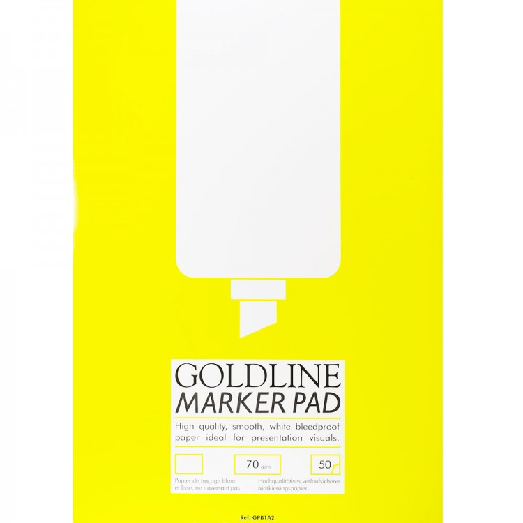 Goldline : Bleedproof Marker Pad : 70gsm : 420x594mm (A2 42x59.4cm)