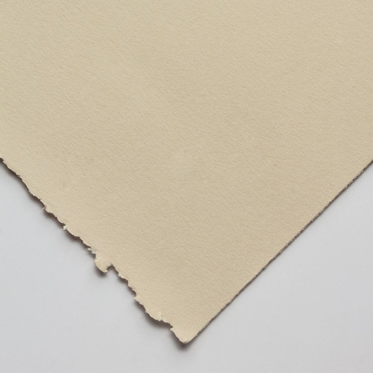 Stonehenge : Paper: Fawn 90lb (250gsm), 22x30in. (56x76cm) Smooth, flawless, slightly mottled surface to resemble vellum. 100% cotton fibers, acid-free, two deckle edges.