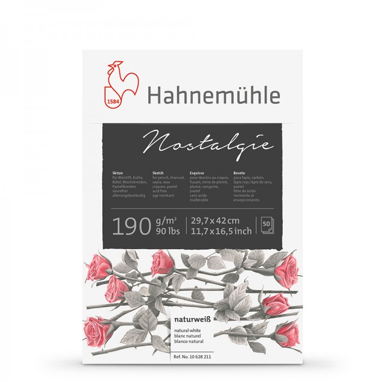 Hahnemuhle : Nostalgie Sketch Pad : 190gsm : 50 Sheets : Natural White : A3
