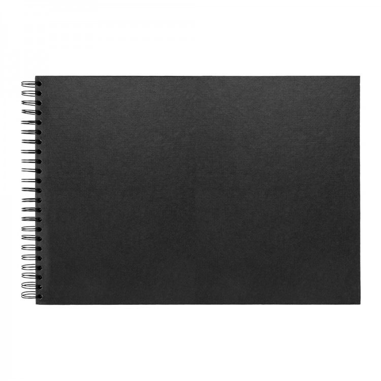 Seawhite : Jackson's : A3 Black Card 220gsm : 40 Sheets : Spiral pad wide spine