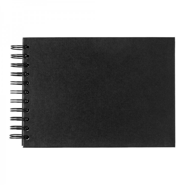 Seawhite : Jackson's : A5 Black Card 220gsm : 40 sheets : spiral pad wide spine