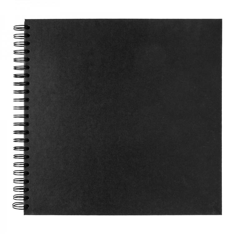 Seawhite : Jackson's : 30x30cm Black Card 220gsm : 40 Sheets : spiral pad