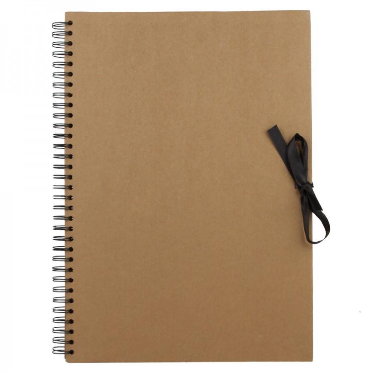 Seawhite : A3 Brown Paper Display Book : 40 sheets : spiral pad