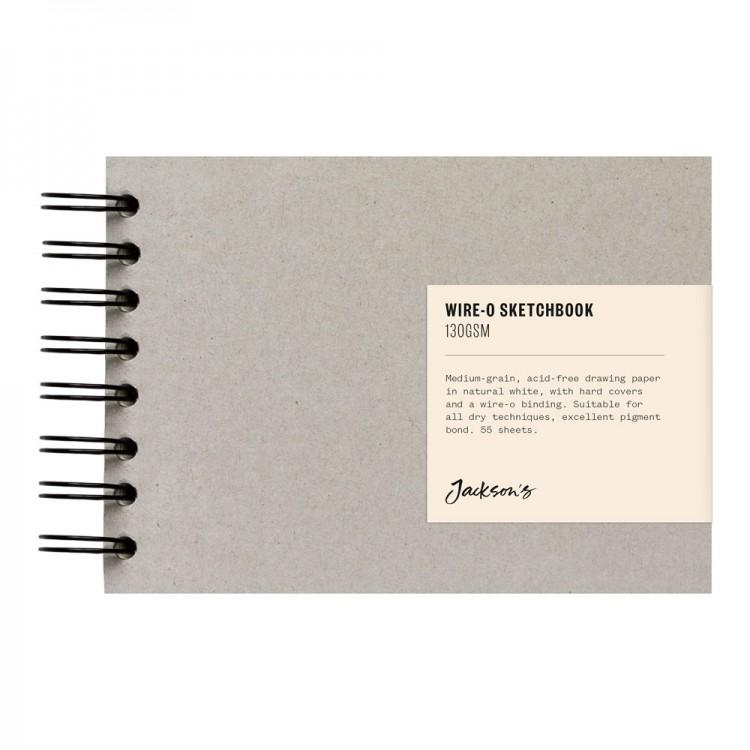 Jackson's : Wire-O Sketchbook : 130gsm : 55 Sheets : A6 : Landscape