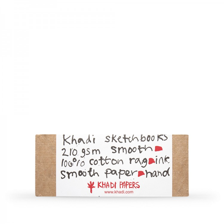 Khadi : Handmade Hard Back Sketchbook 210gsm : Smooth : 13x32cm : 40 Pages