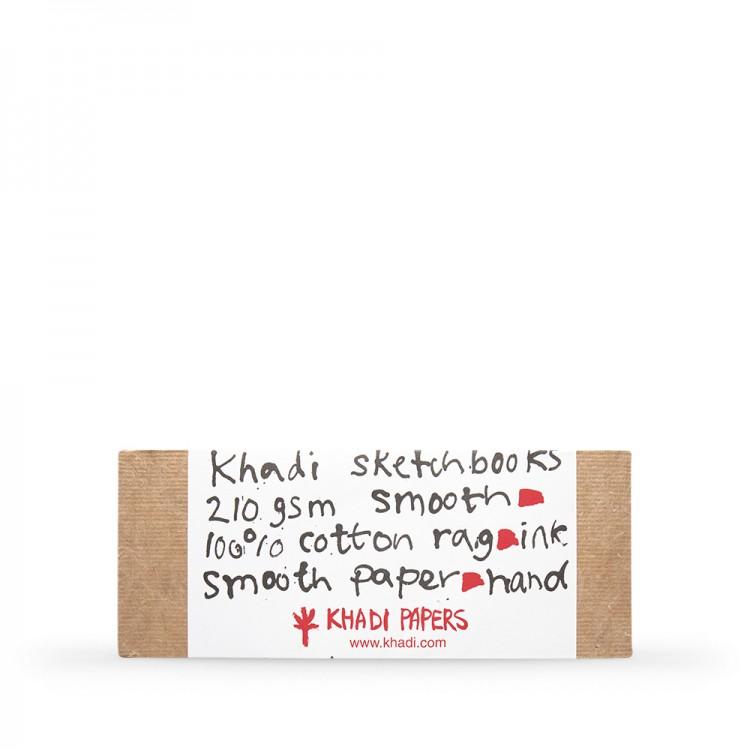 Khadi : Handmade Hard Back Sketchbook 210gsm : Smooth : 13x32cm : 40 Pages