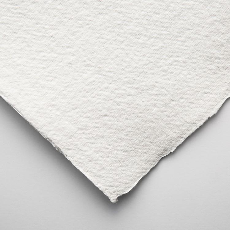 Khadi Handmade White Rag Paper 640gsm : Rough : 56x76cm : 10 Sheets