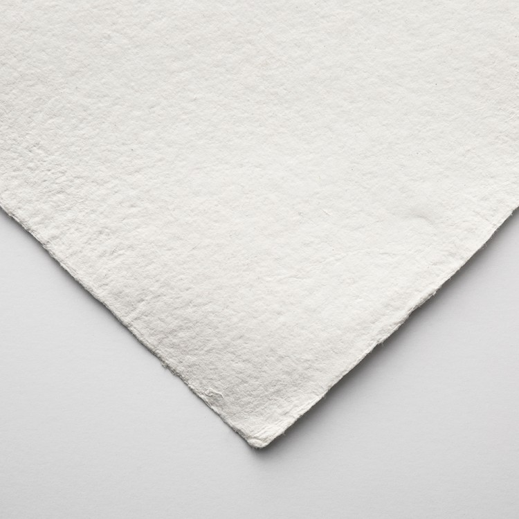 Khadi Handmade White Rag Paper 640gsm : Smooth : 56x76cm : 10 Sheets