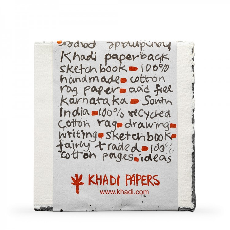 Khadi Handmade Watercolour Paper Pad 150gsm : Rough : 15 Sheets : 20x20cm
