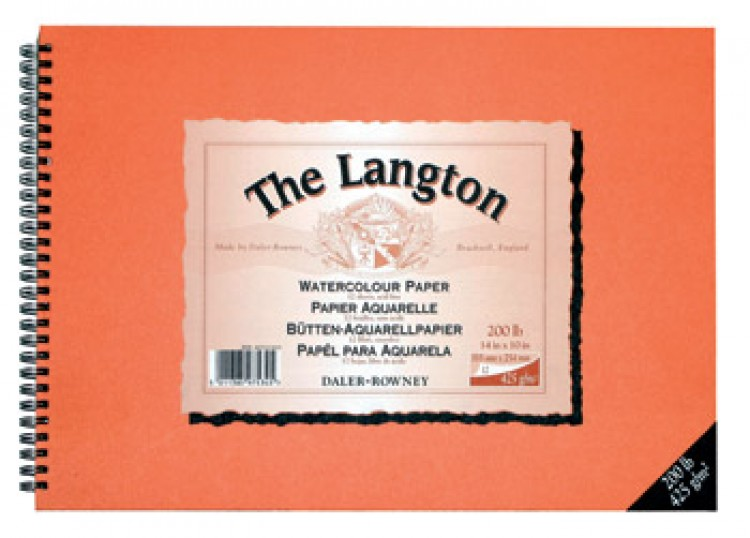 Daler Rowney : Langton : 12x16in : Watercolour Paper : Spiral Pad : 425gsm : Not