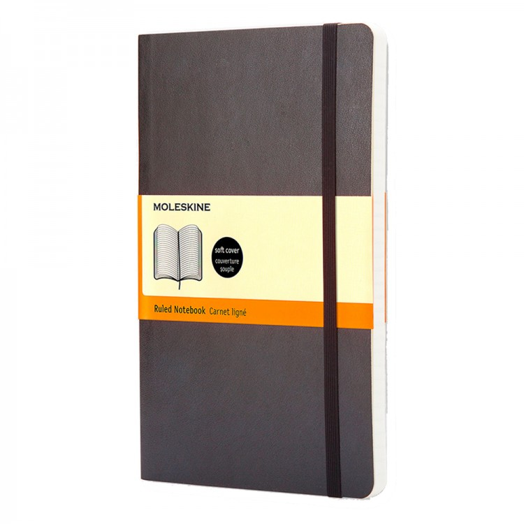 Moleskine : Ruled Notebook : 9x14cm : Hard Cover : 192 pages : Black