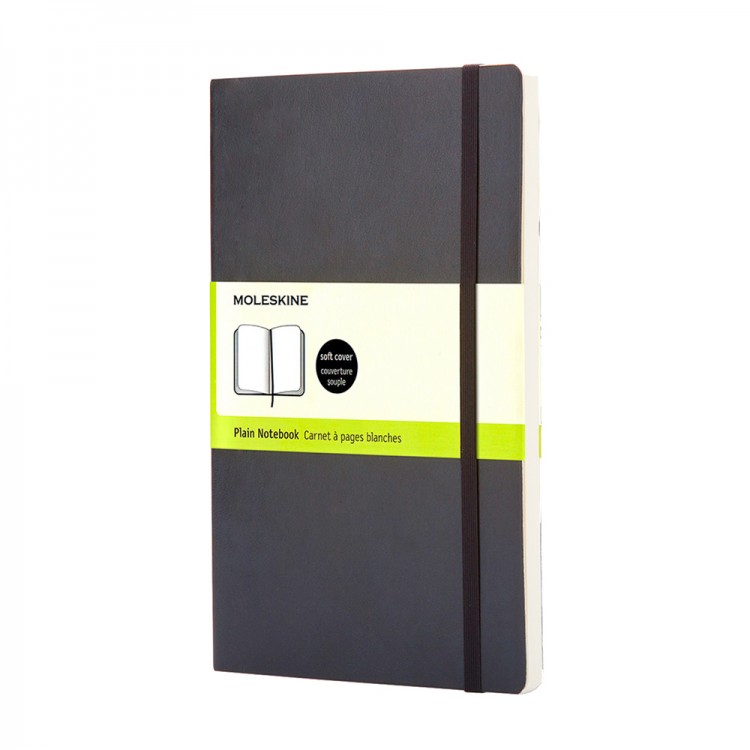 Moleskine : Plain Notebook : 9x14cm : Hard Cover : 192 pages : Black