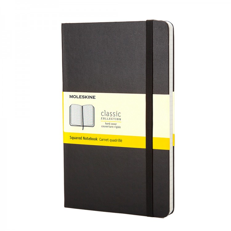 Moleskine : Squared Notebook : 13x21cm : Hard Cover : 240 pages : Black