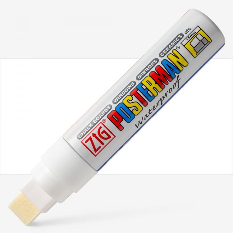 Zig : Posterman Chalk Board Marker : Big & Broad (15mm Nib) : White