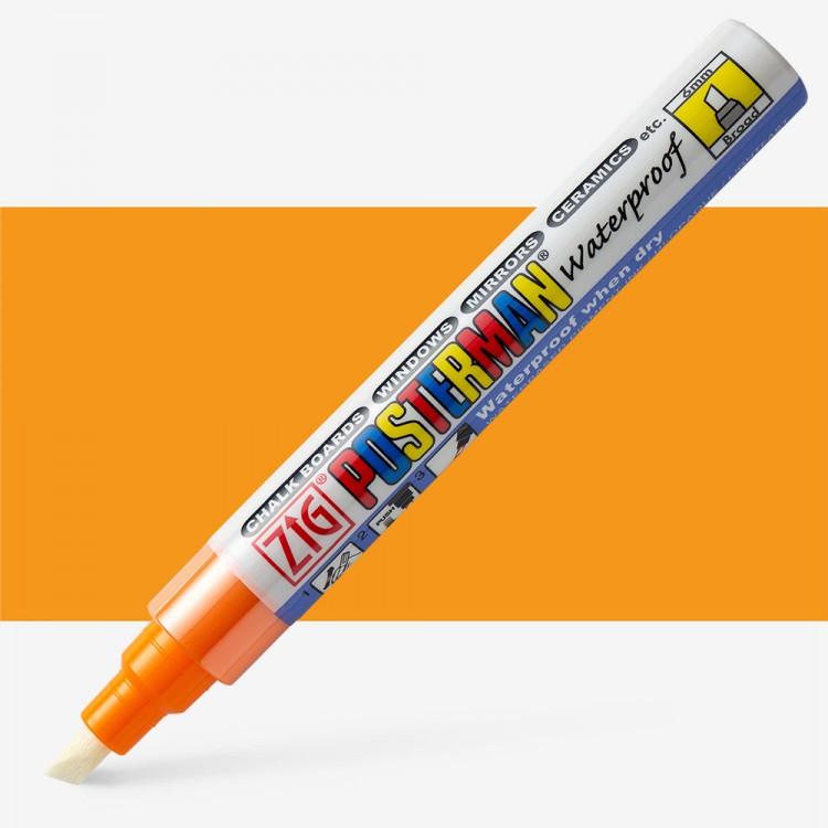 Zig : Posterman Chalk Board Marker : Broad (6mm Nib) : Orange