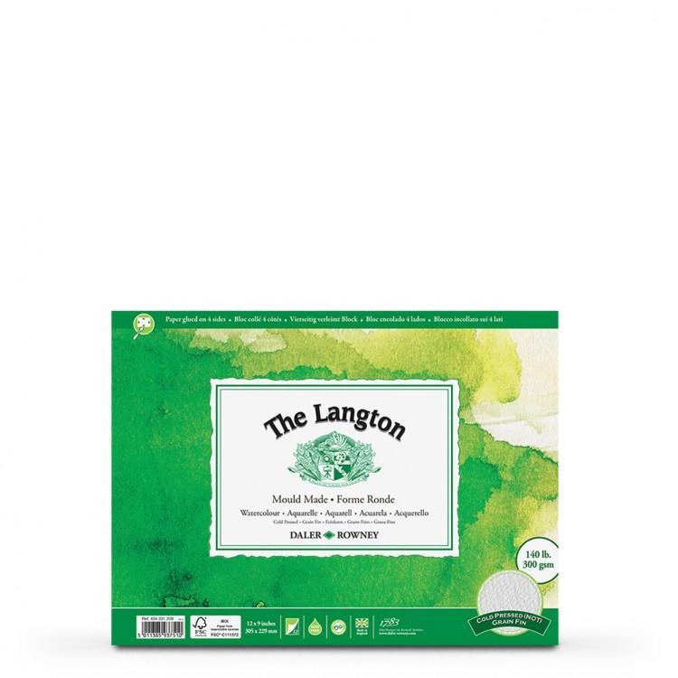 Daler Rowney : Langton : 9x12in : Watercolour Paper : Block : 140lb : Not