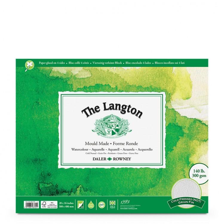 Daler Rowney : Langton : 16x20in : Watercolour Paper : Block : 140lb : Not