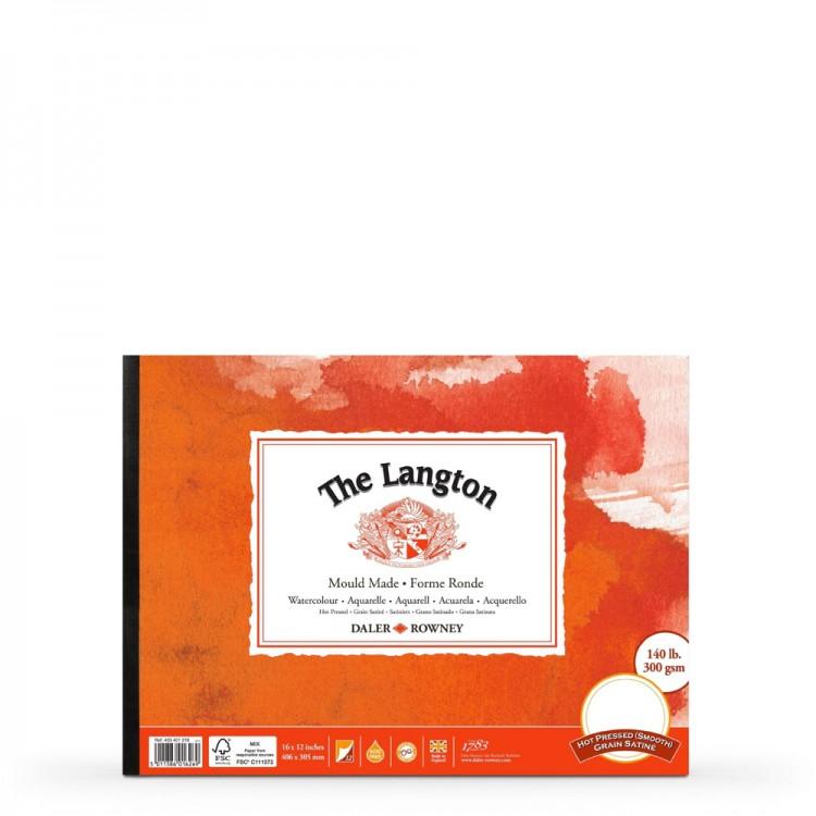 Daler Rowney : Langton : Glued Pad : 140lb : Hot Pressed : 16x12in