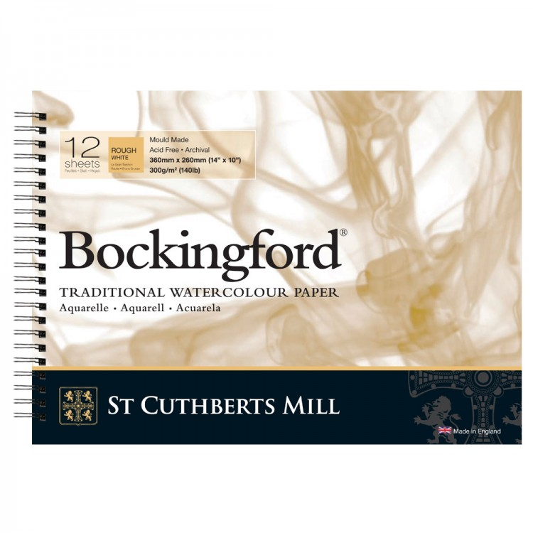 Bockingford : Spiral Pad : 10x14in : 300gsm : 12 Sheets : Rough