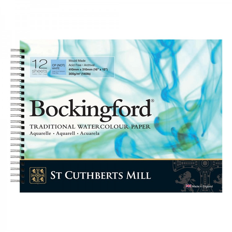 Bockingford : Spiral Pad : 12x16in : 300gsm : 12 Sheets : Not